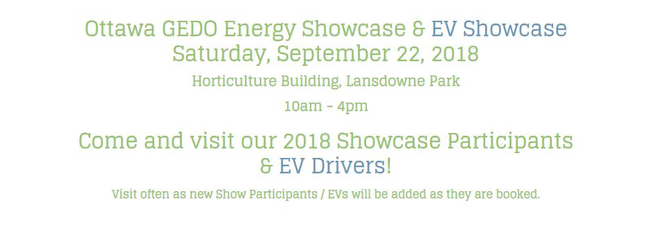 Ottawa GEDO Energy Showcase – Sept 22
